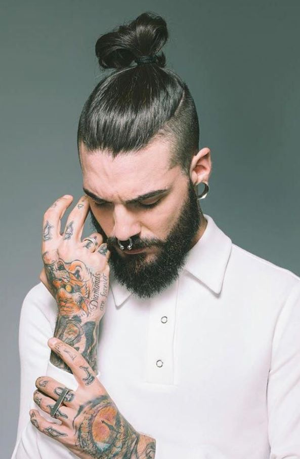 Top Knot variation trendy mens haircuts 2021