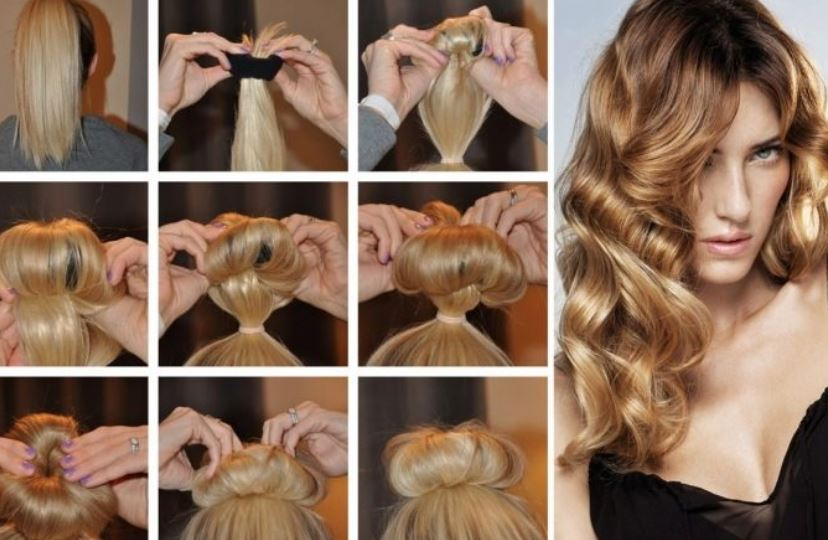 Curling hair with socks. St 8