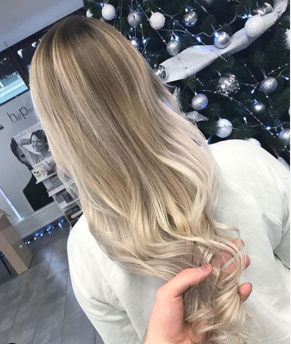 shatush hair coloring blond