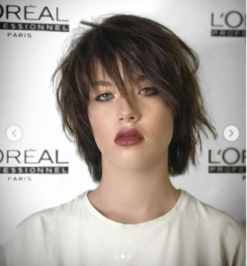 It's so simple and easy to accentuate your personality... And she's really good with a short haircut.