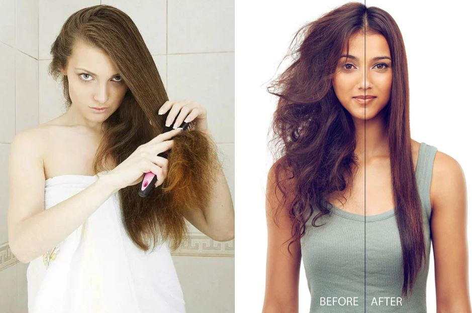 matted hair before after