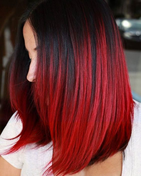 red ombre hair 2021
