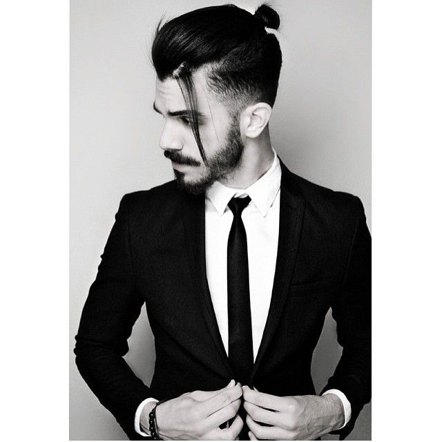 Top-knot-man-bun