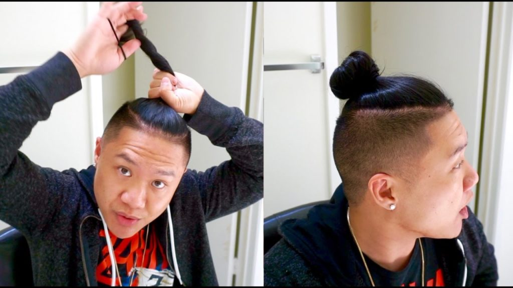 Top Knot variation trendy mens haircuts