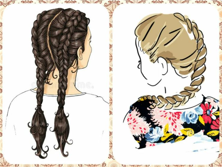 Braids - fashionable, stylish, comfortable