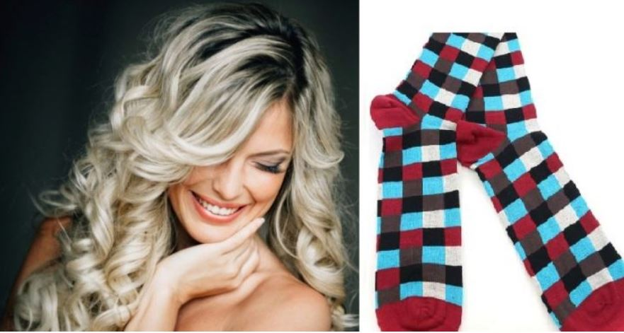 Curling hair with socks